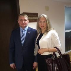 С депутатом Госдумы Александром Шериным