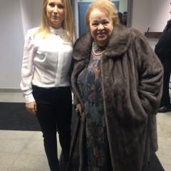 С Натальей Крачковской на съемочной площадке