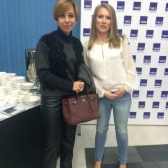 С тележурналистом Марианной Максимовской в ТАСС